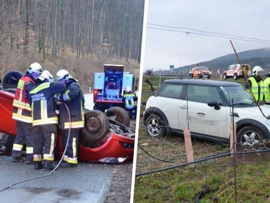 Zu mehreren Verkehrsunfällen kam es am Mittwoch im Bezirk Mödling und Baden.