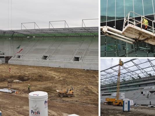 Wir haben die Baustelle des Allianz Stadions besucht.