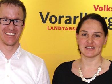 Landtagsabgeordneten Monika Vonier und Christian Gantner