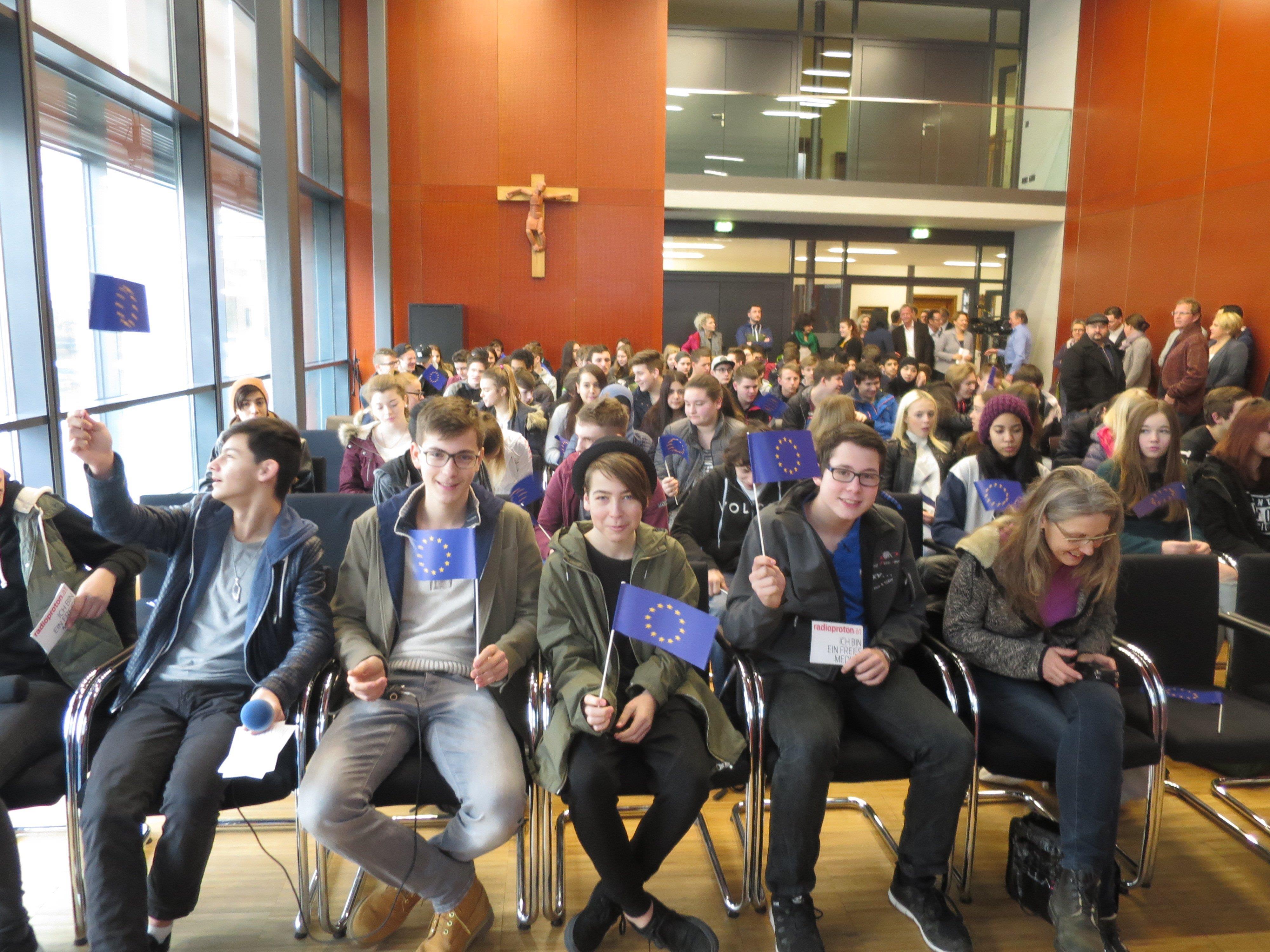 """Mit großer Begeisterung beteiligten sich zahlreiche Dornbirner Jugendliche am Projekt """"Jugendhauptstadt 2019"""""""