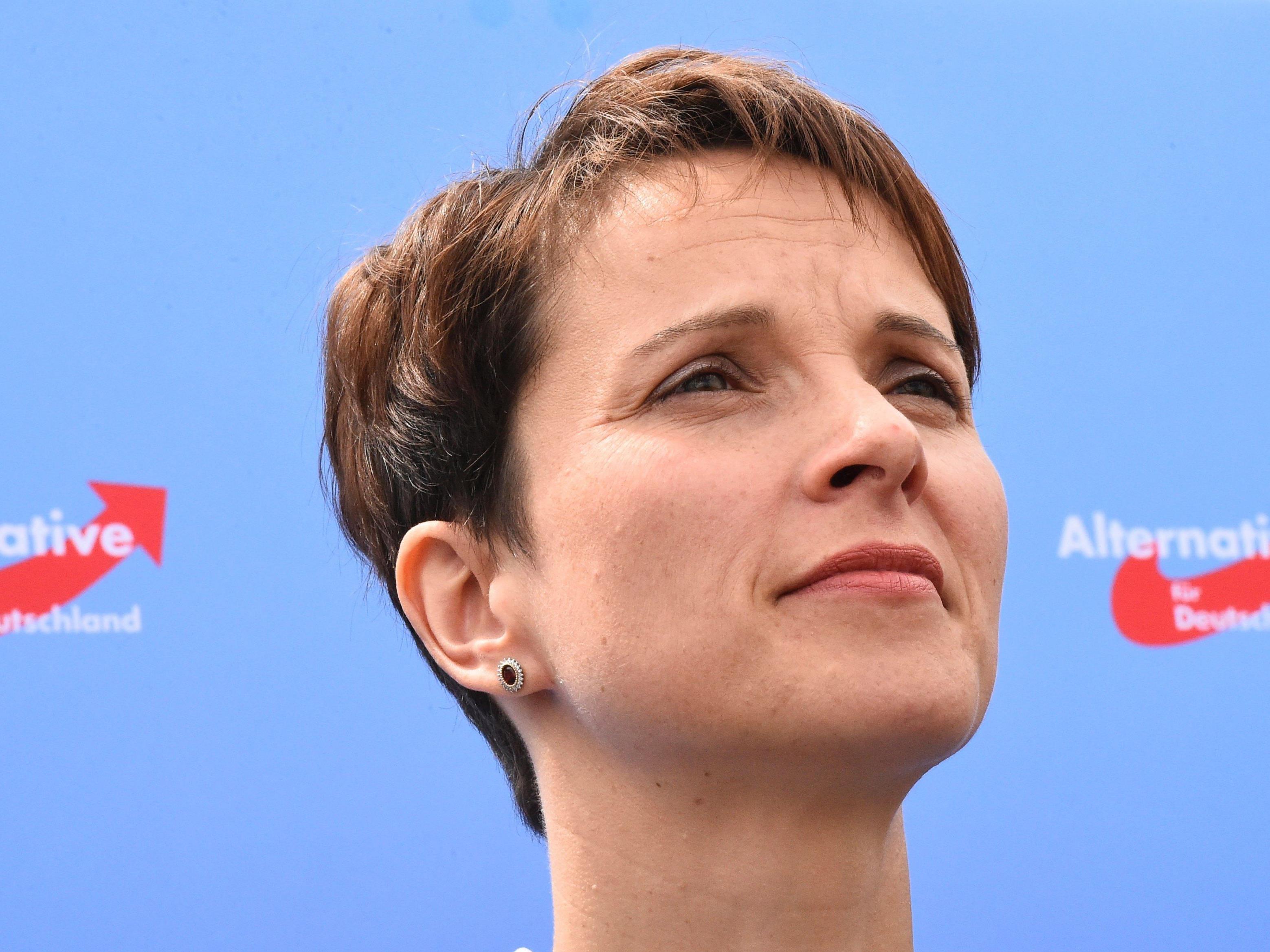 Die AfD-Vorsitzende Frauke Petry fordert Grenzschutz mit allen Mitteln.