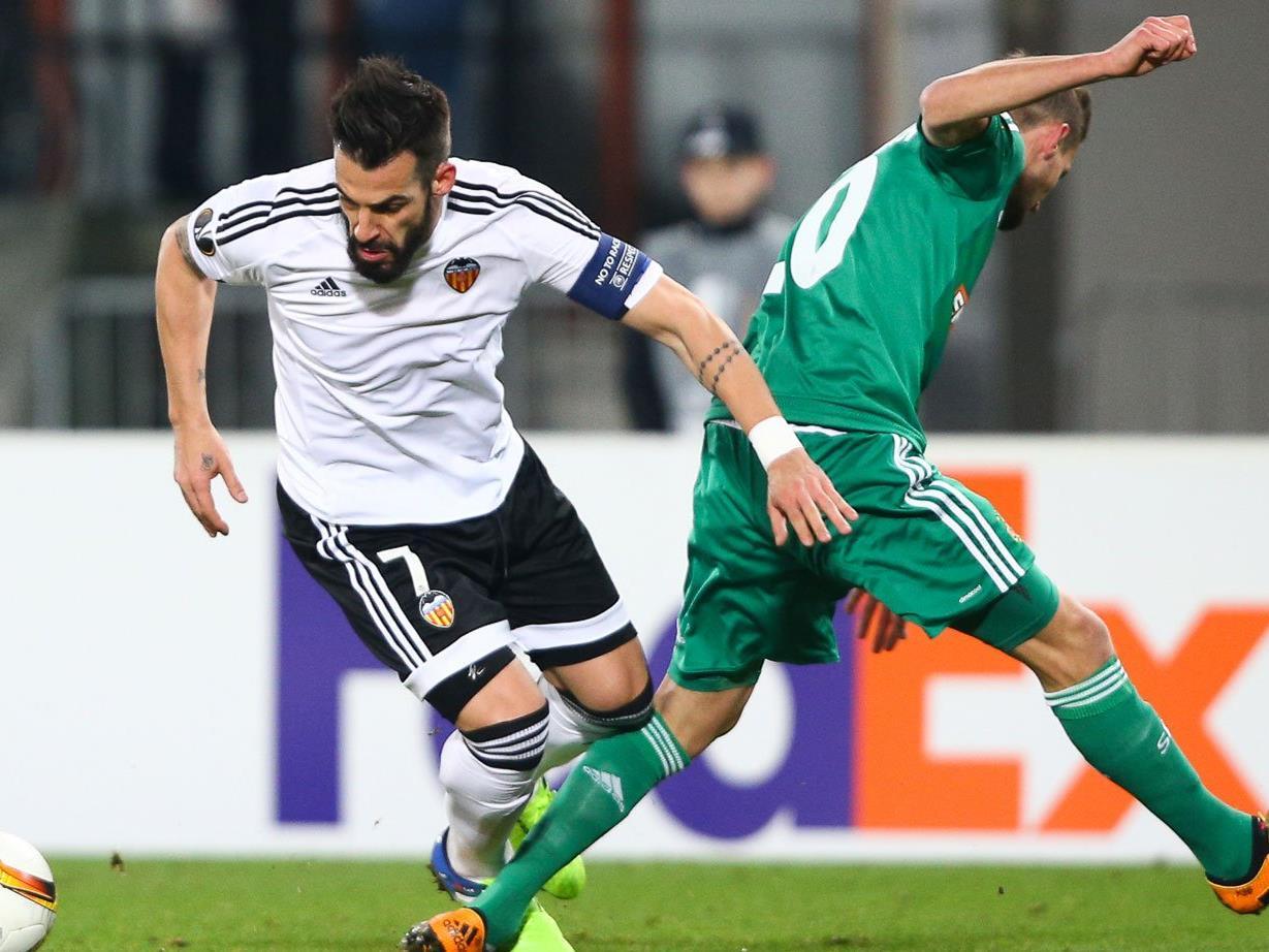 Es kam zu Auseinandersetzungen zwischen Rapid und Valencia Fans.