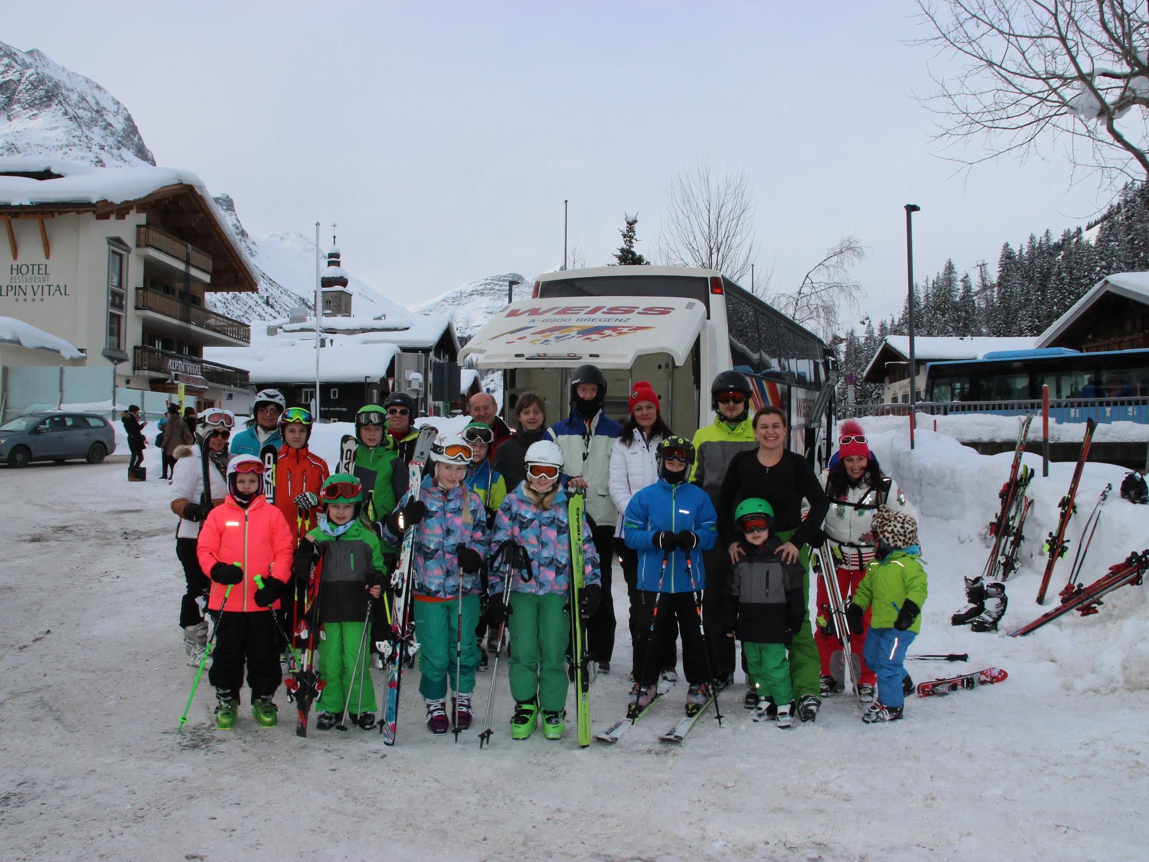 Gruppenfoto in Lech