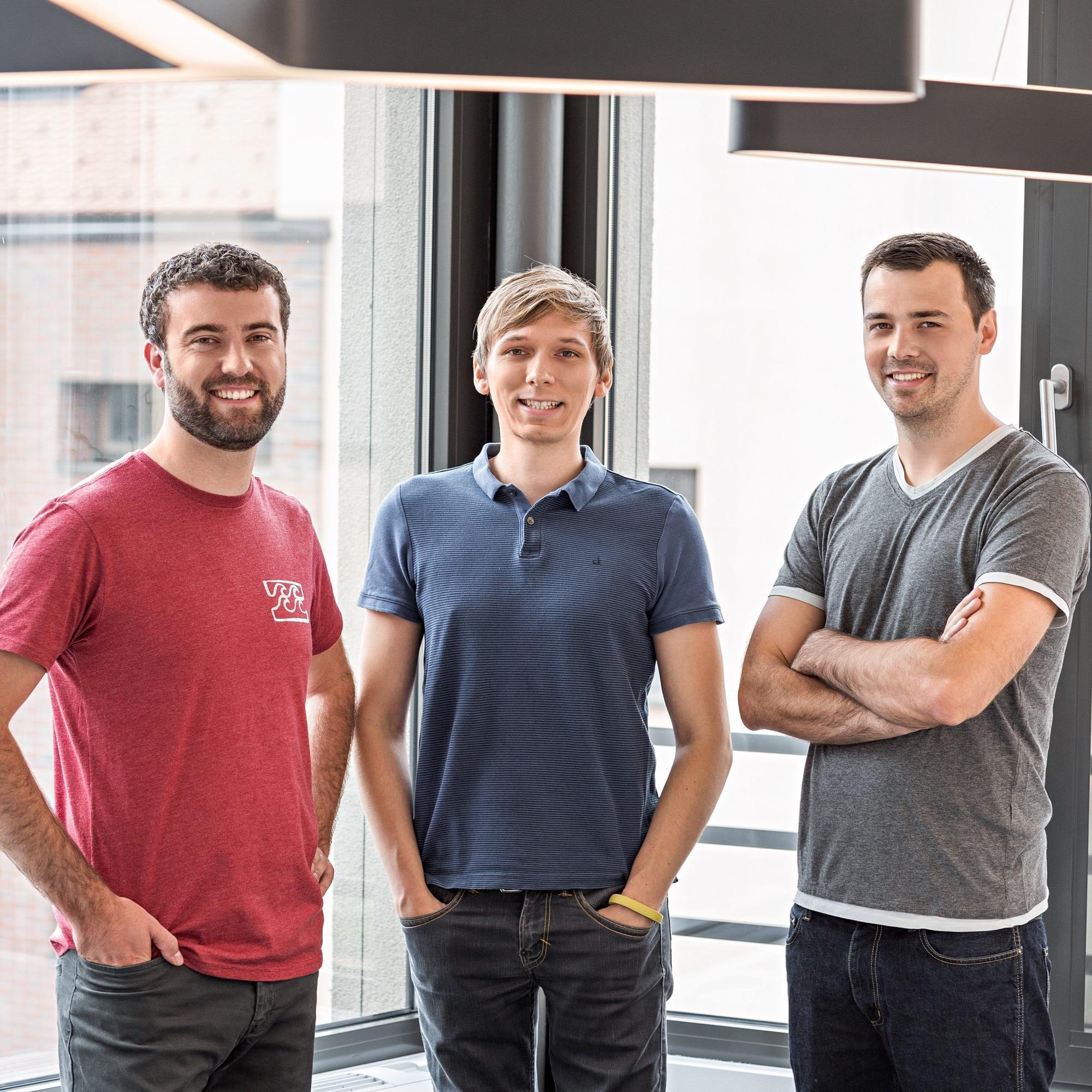 Die drei Vorarlberger Gründer Daniel Ender, Alexander Bitsche und Tobias Klien (v.l.) freuen sich über ein gutes Jahr 2015.