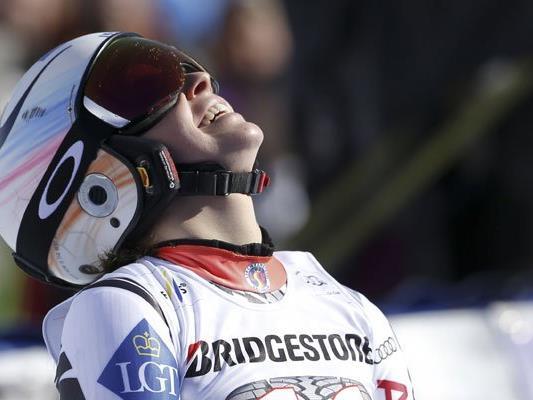 Erster Sieg für Tina Weirather in der laufenden Saison.
