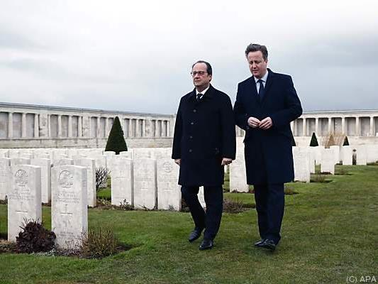 Hollande und Cameron wollen an Putin appellieren
