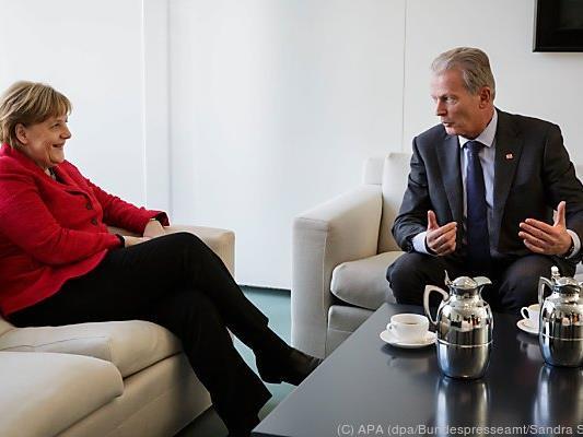Merkel empfing Mitterlehner im Kanzleramt in Berlin