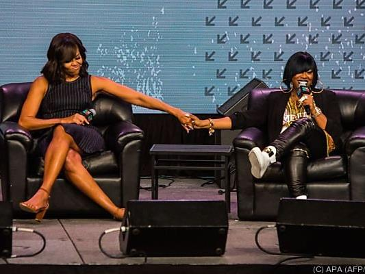 Michelle Obama mit Missy Elliott