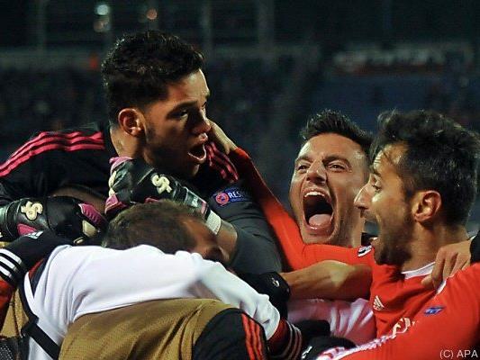 Riesenjubel bei Benfica
