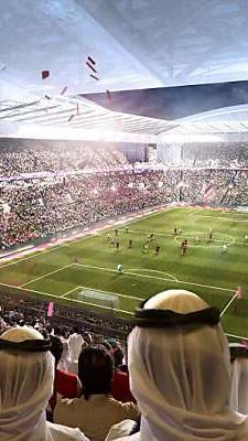 Grafik von Katar-Stadion: Wird WM 2022 für Fans zum Campingurlaub?