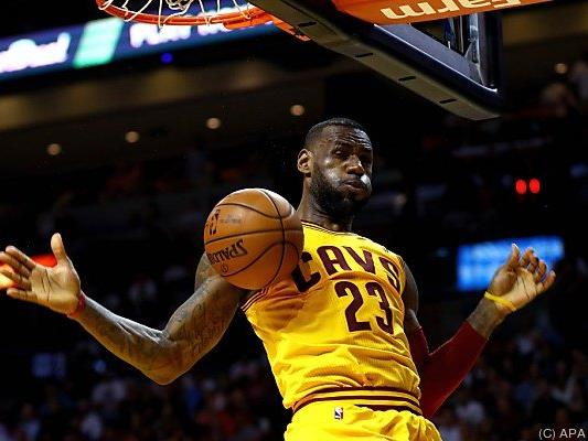 LeBron James lieferte wieder einmal ein Topspiel ab