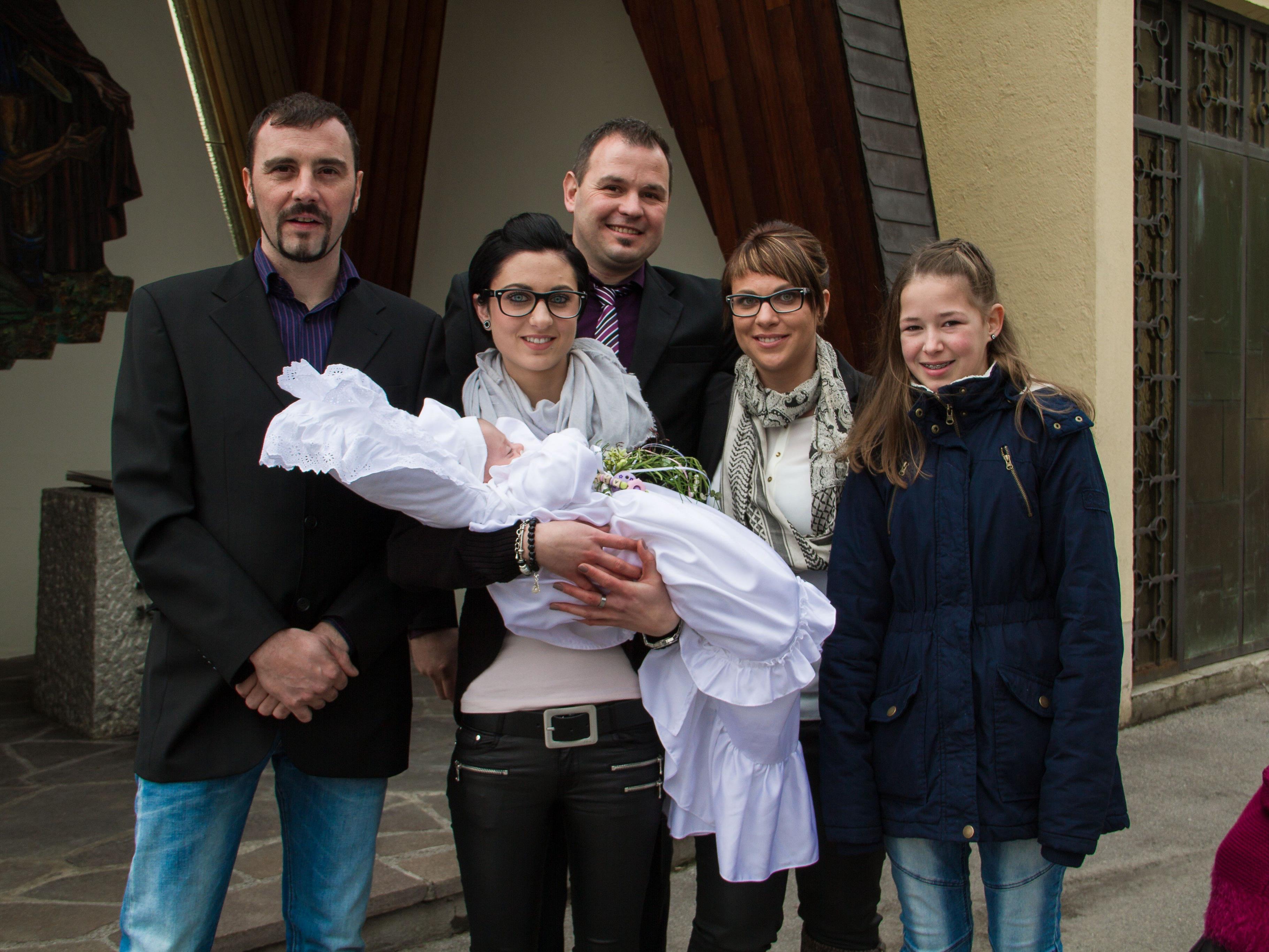 Aileen Wucher wurde in der Pfarrkirche getauft