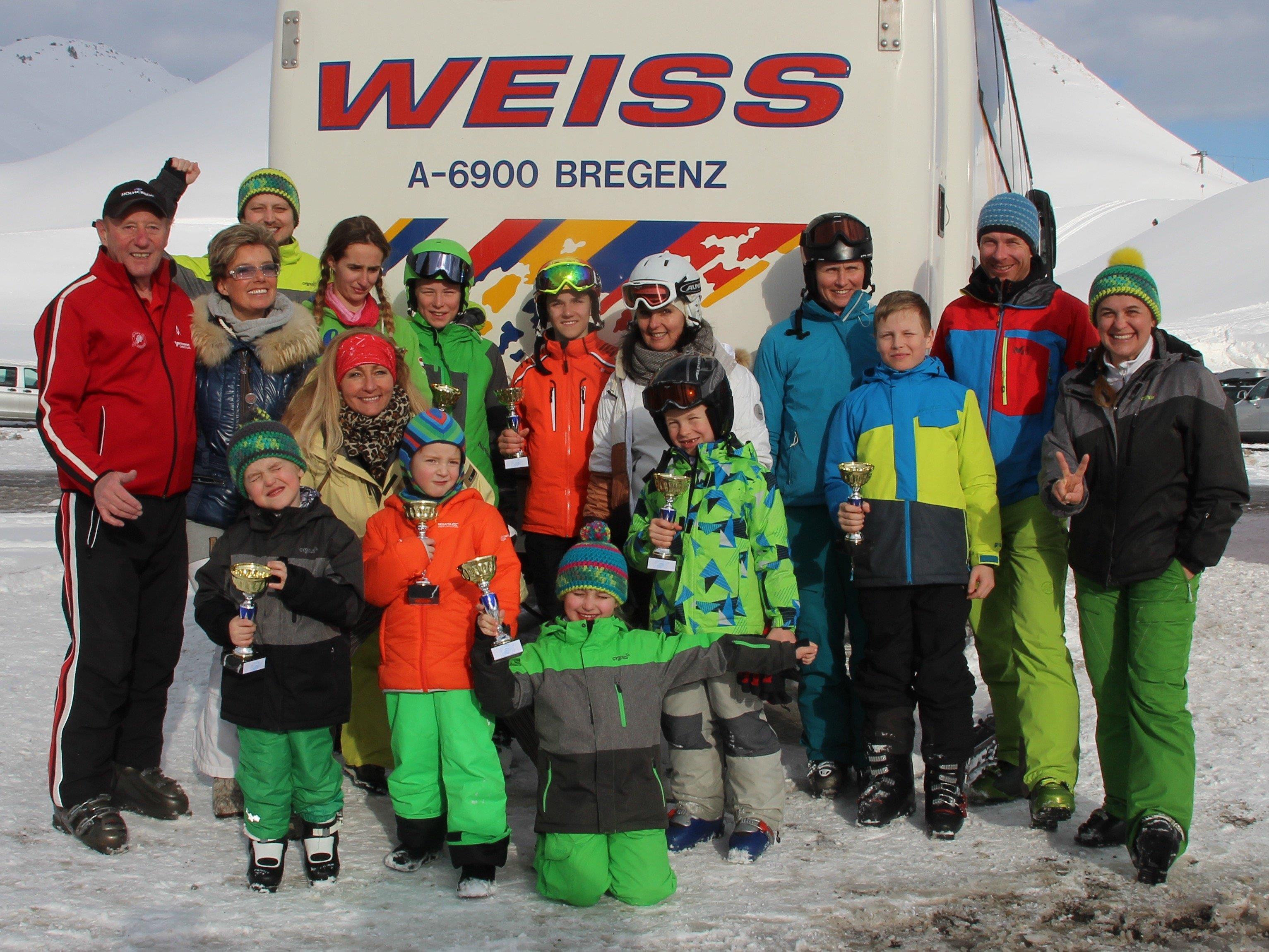 Siegerehrung zum Abschluss eines wunderbaren Skitages