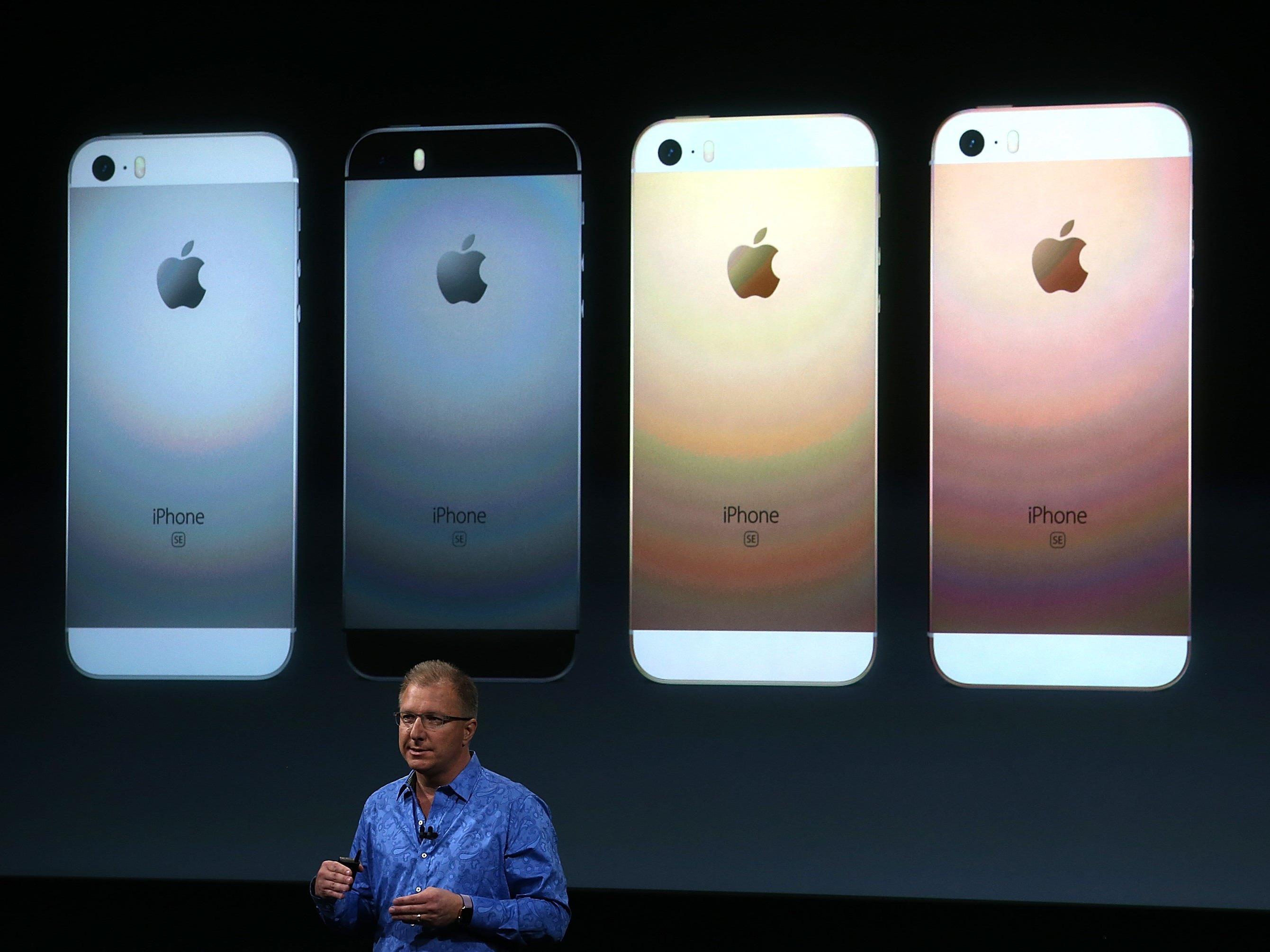 So sieht das neue iPhone SE aus.