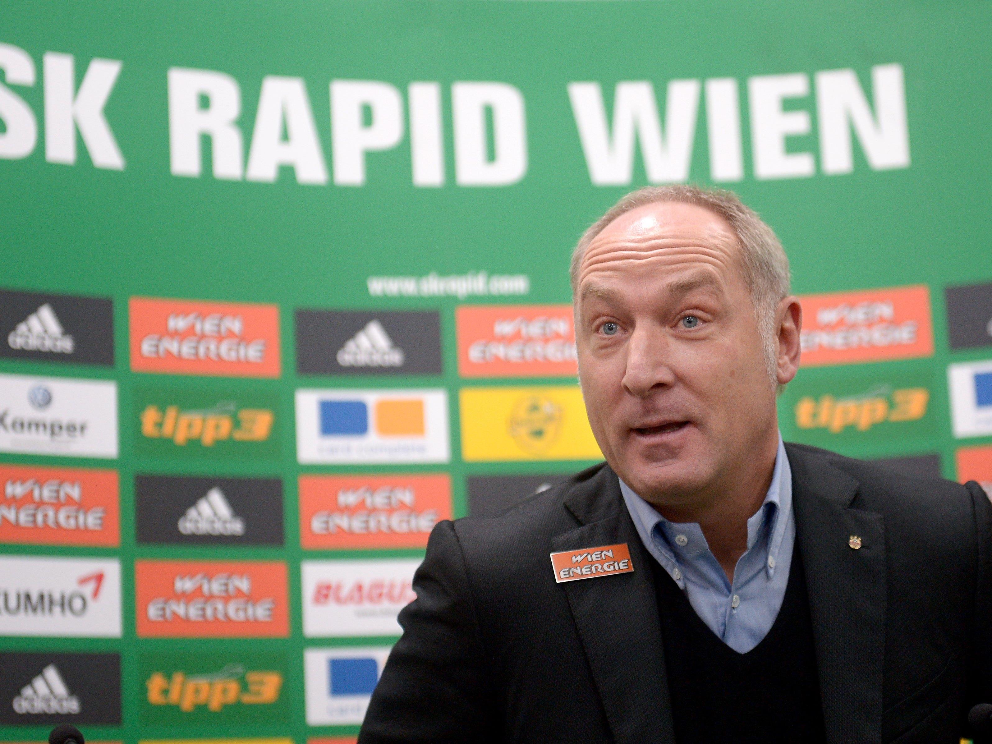 """""""Spucken, beißen, kratzen"""" fordert Andreas Müller am Sonntag von den Rapidlern."""