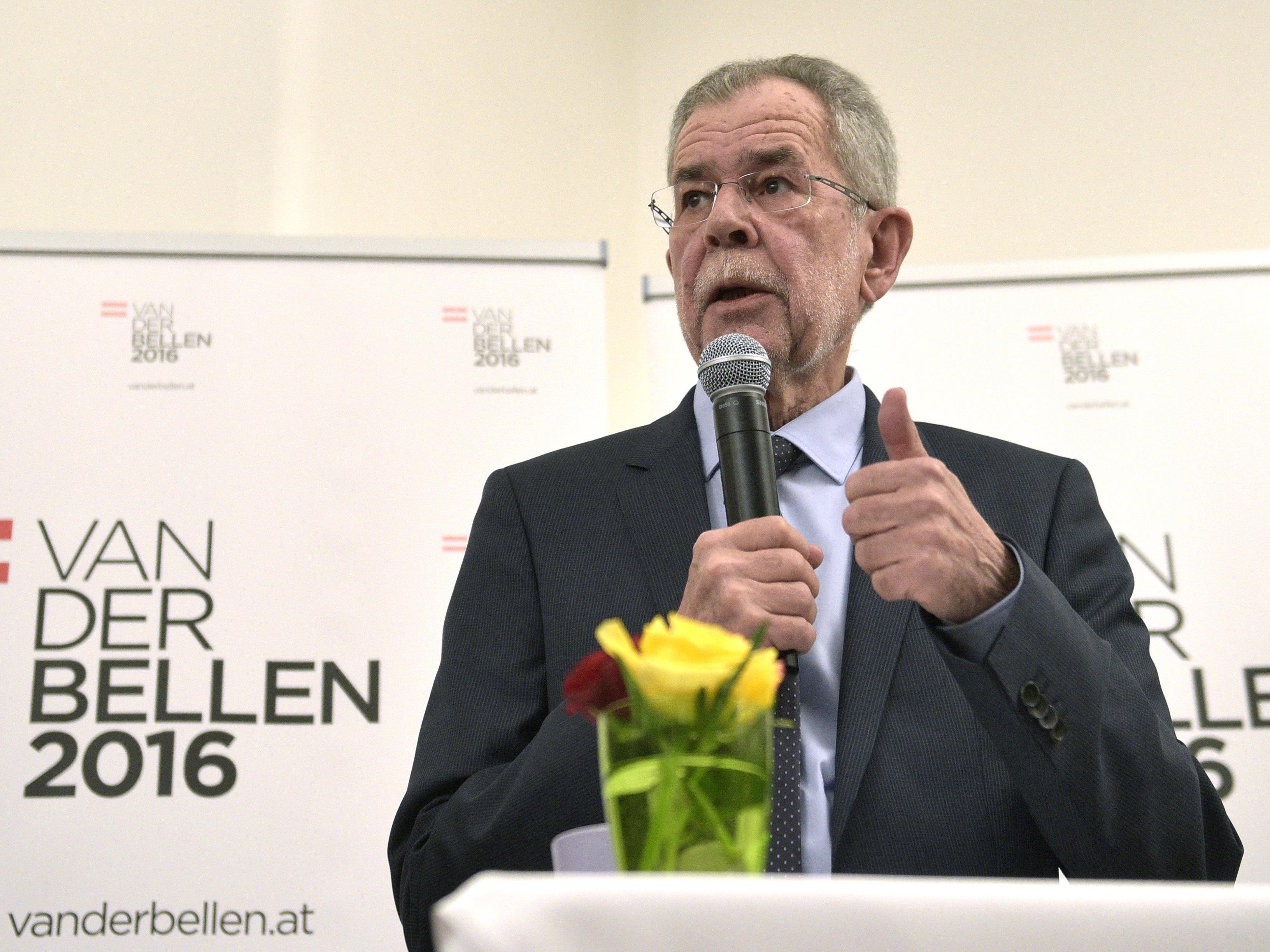BP-Wahl - Van der Bellen sammelte bisher 14.493 Unterschriften