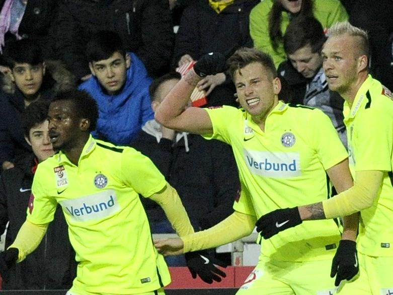 Die Austria hat nach vier Wochen in der Liga wieder Grund zu feiern.