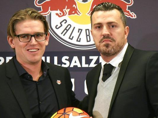 Sportdirektor Christoph Freund und Salzburg-Trainer Óscar García.