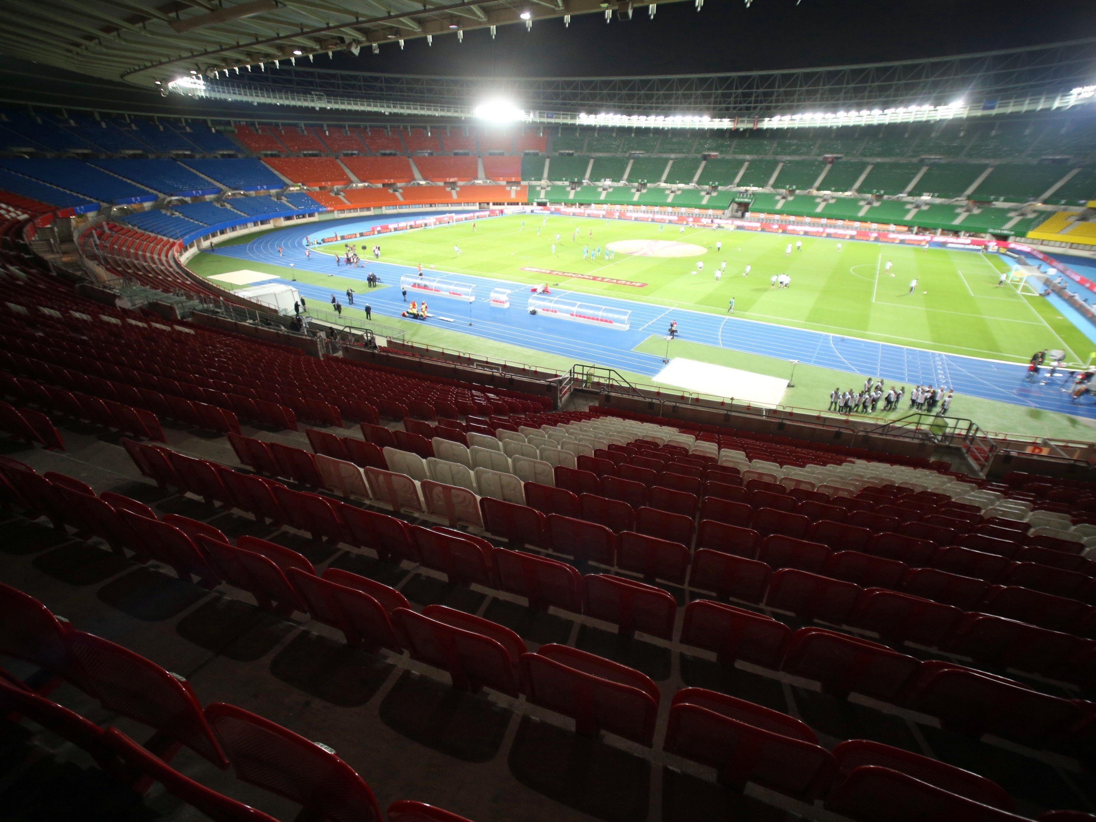 Erhöhte Sicherheitsvorkehrungen für die kommenden Länderspiele im Happel-Stadion.