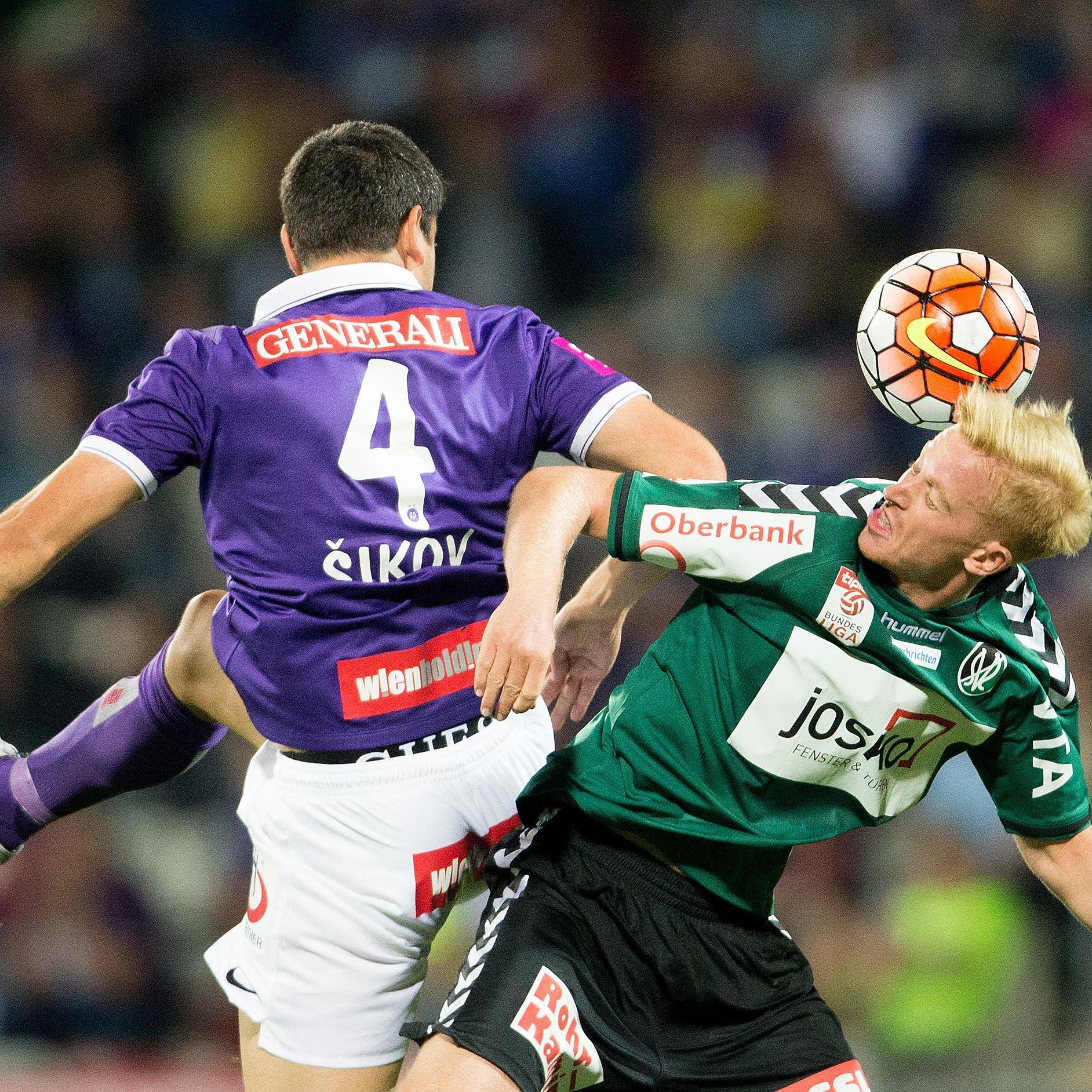 Austria Wien und Ried treffen in der Generali-Arena aufeinander.