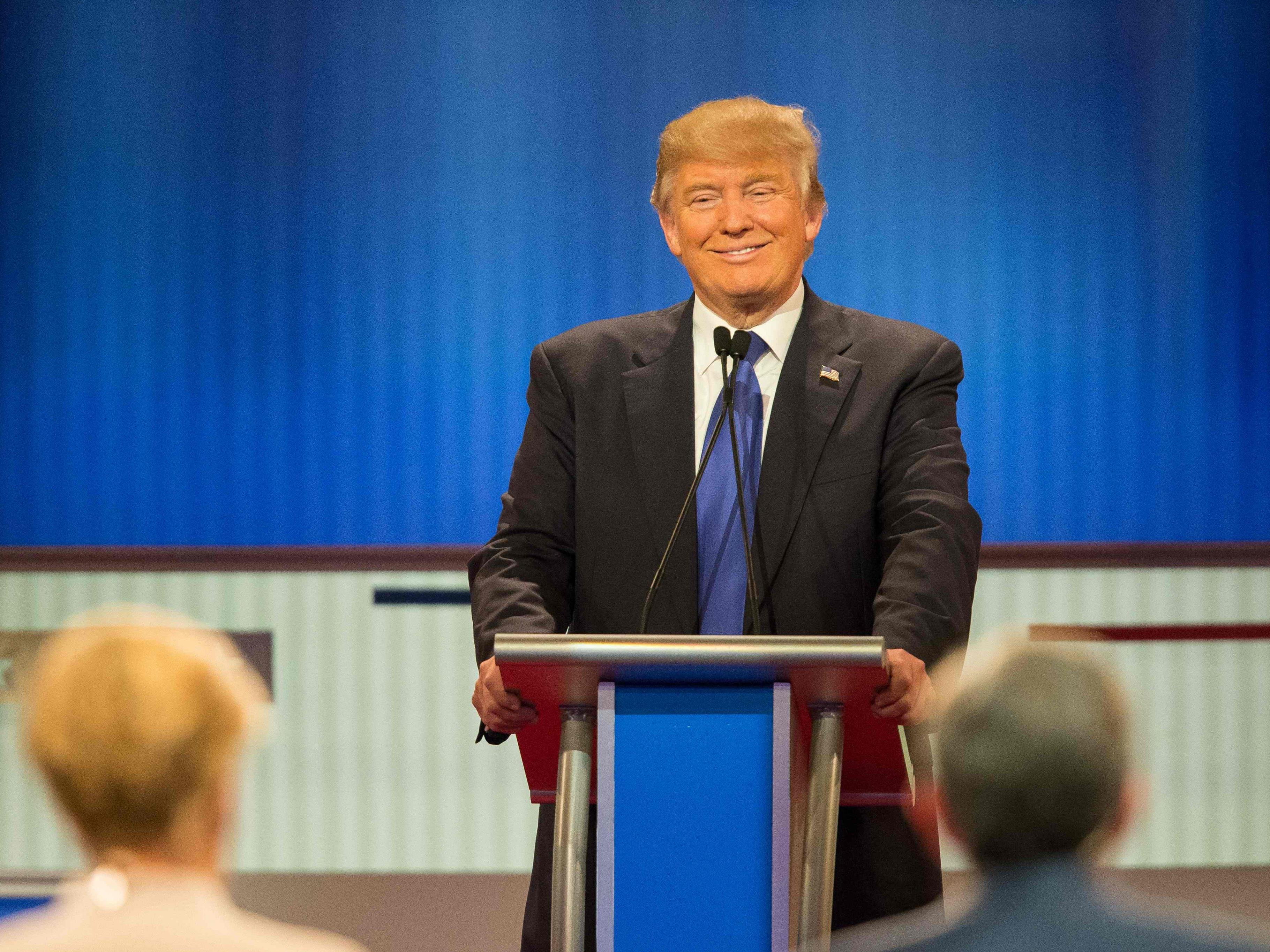 Donald Trump fährt schwere Geschütze auf.
