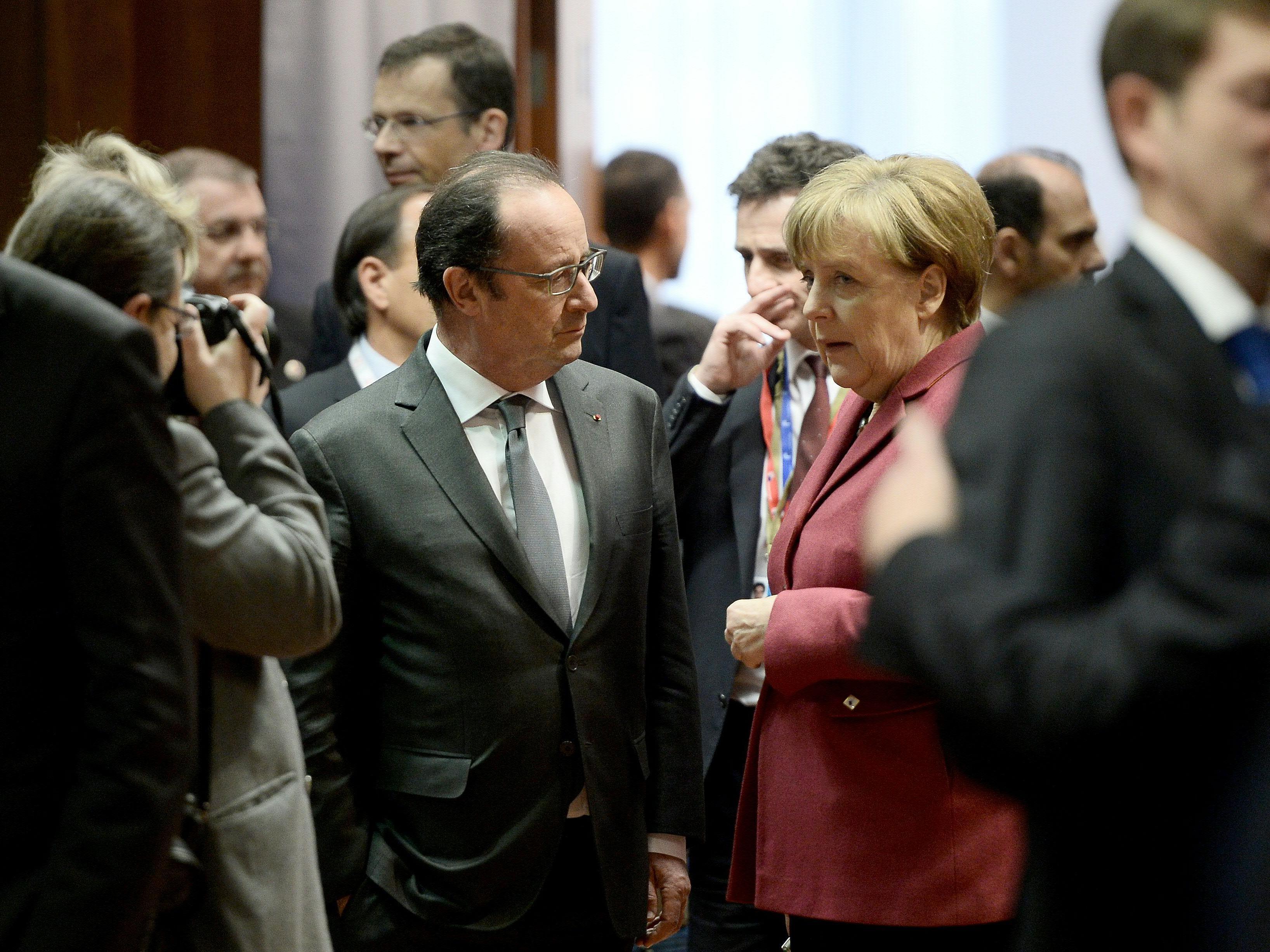 Angela Merkel (CDU) zeigte sich vorsichtig optimistisch, fügte aber hinzu, dass es noch viel zu regeln gebe.