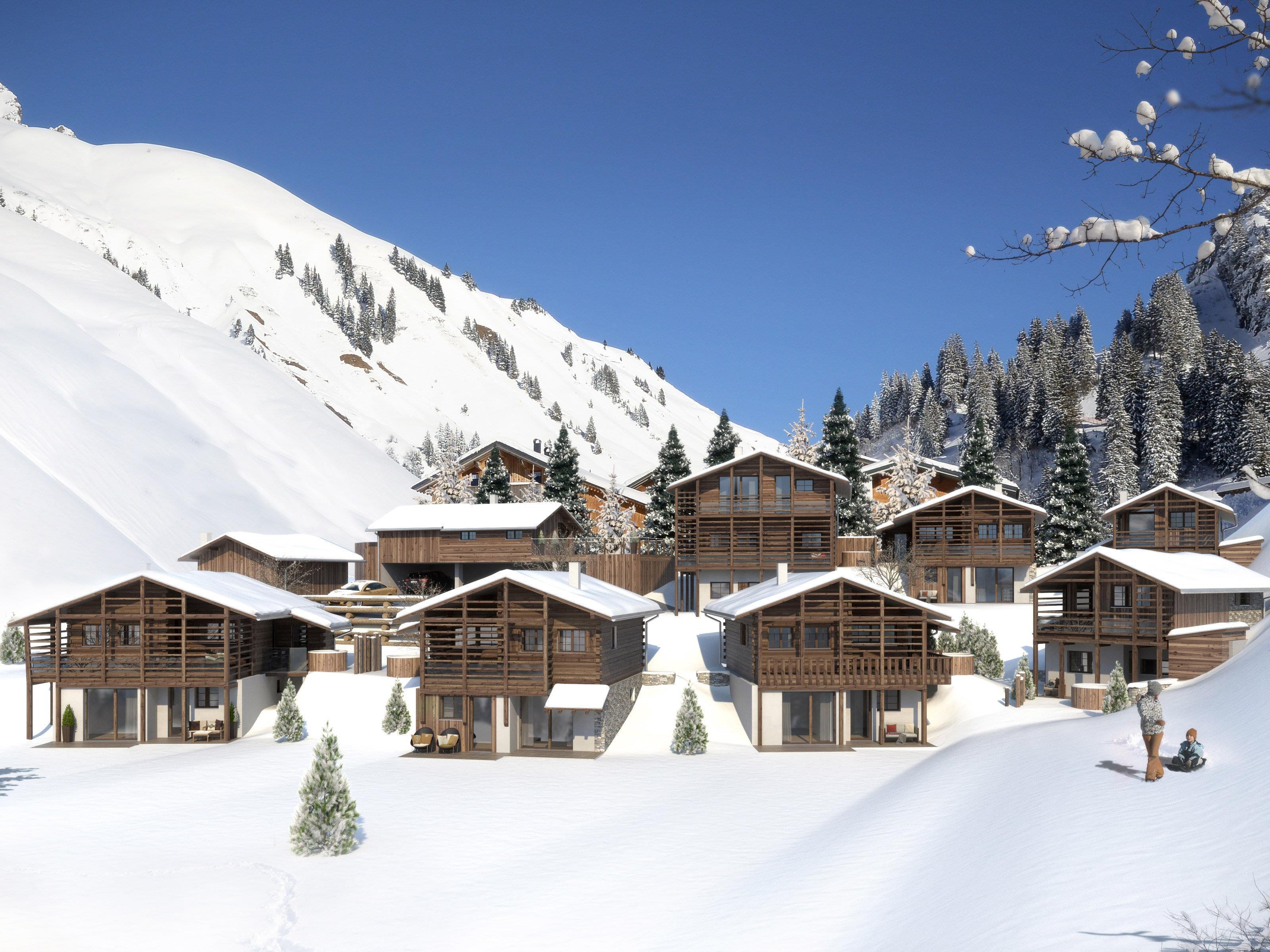 In Schröcken entzsteht bis zum Beginn der Wintersaison 2016/17 ein neues Chalet-Dorf.