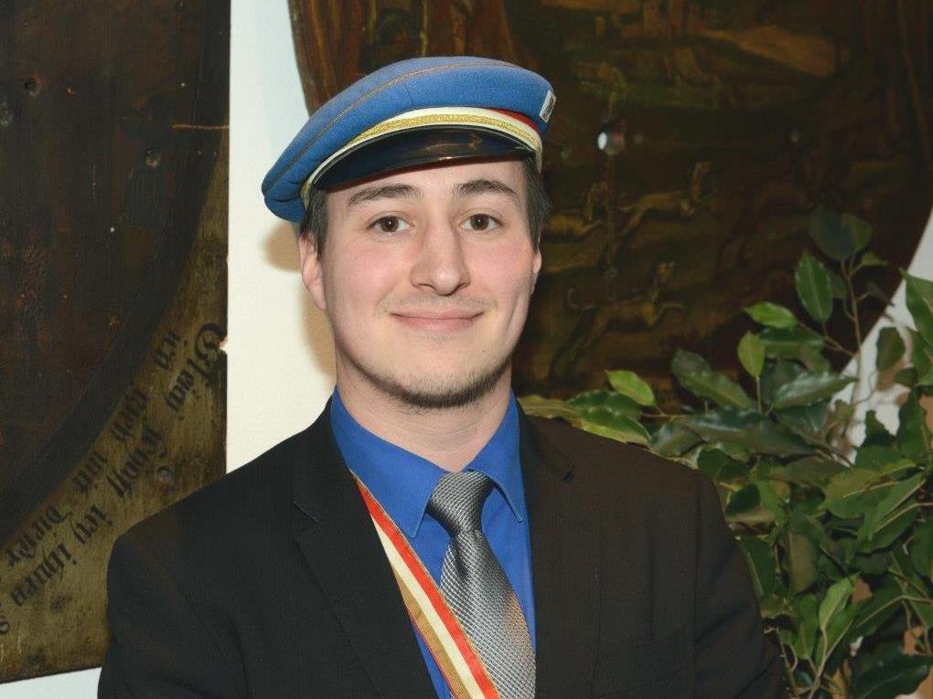 Florian Wund, der neue Philistersenior der KMV Clunia Feldkirch