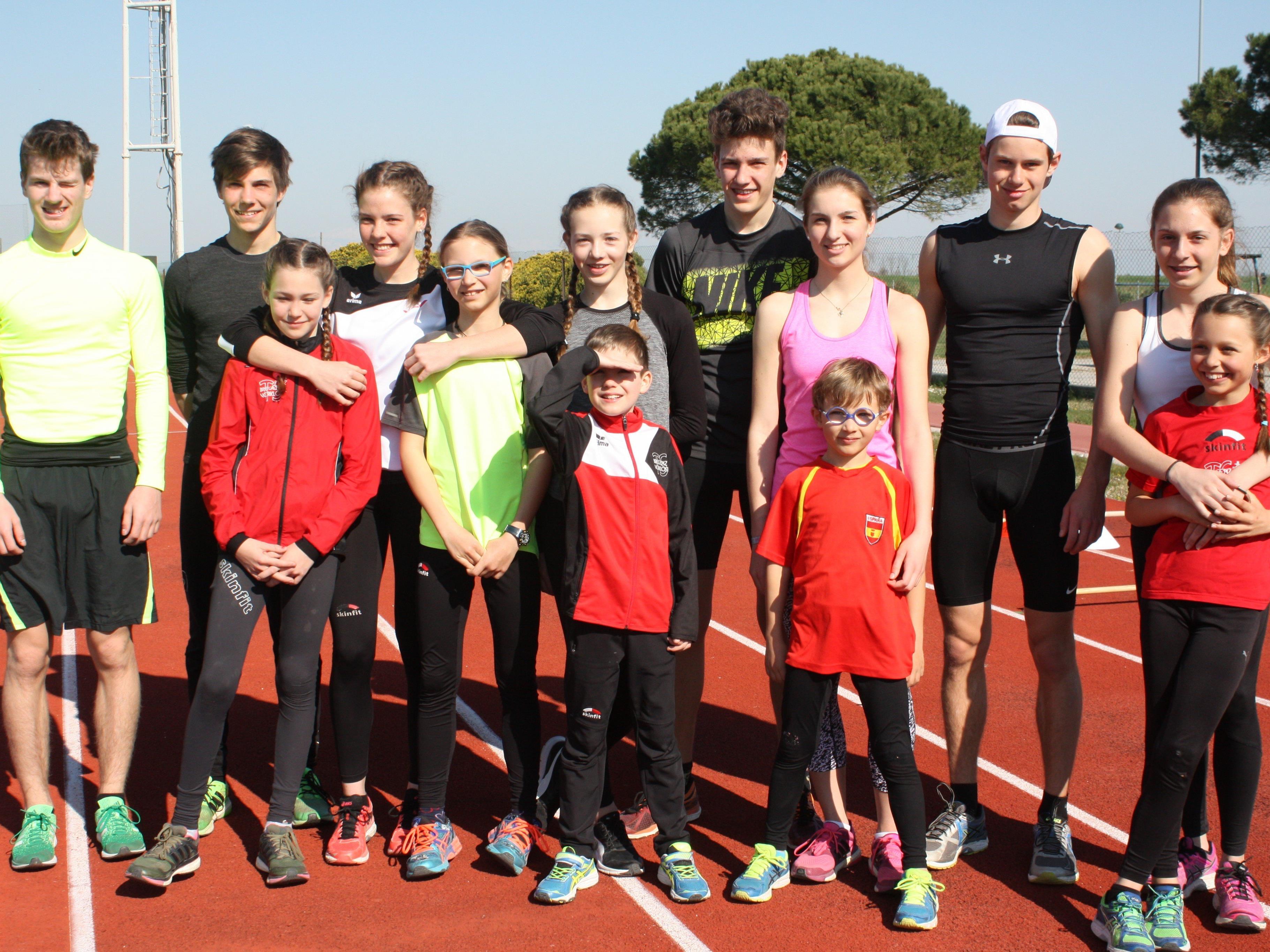 Die Leichtathleten der TS Bregenz-Vorkloster profitierten beim Trainingscamp in Caorle von perfekten Bedingungen.