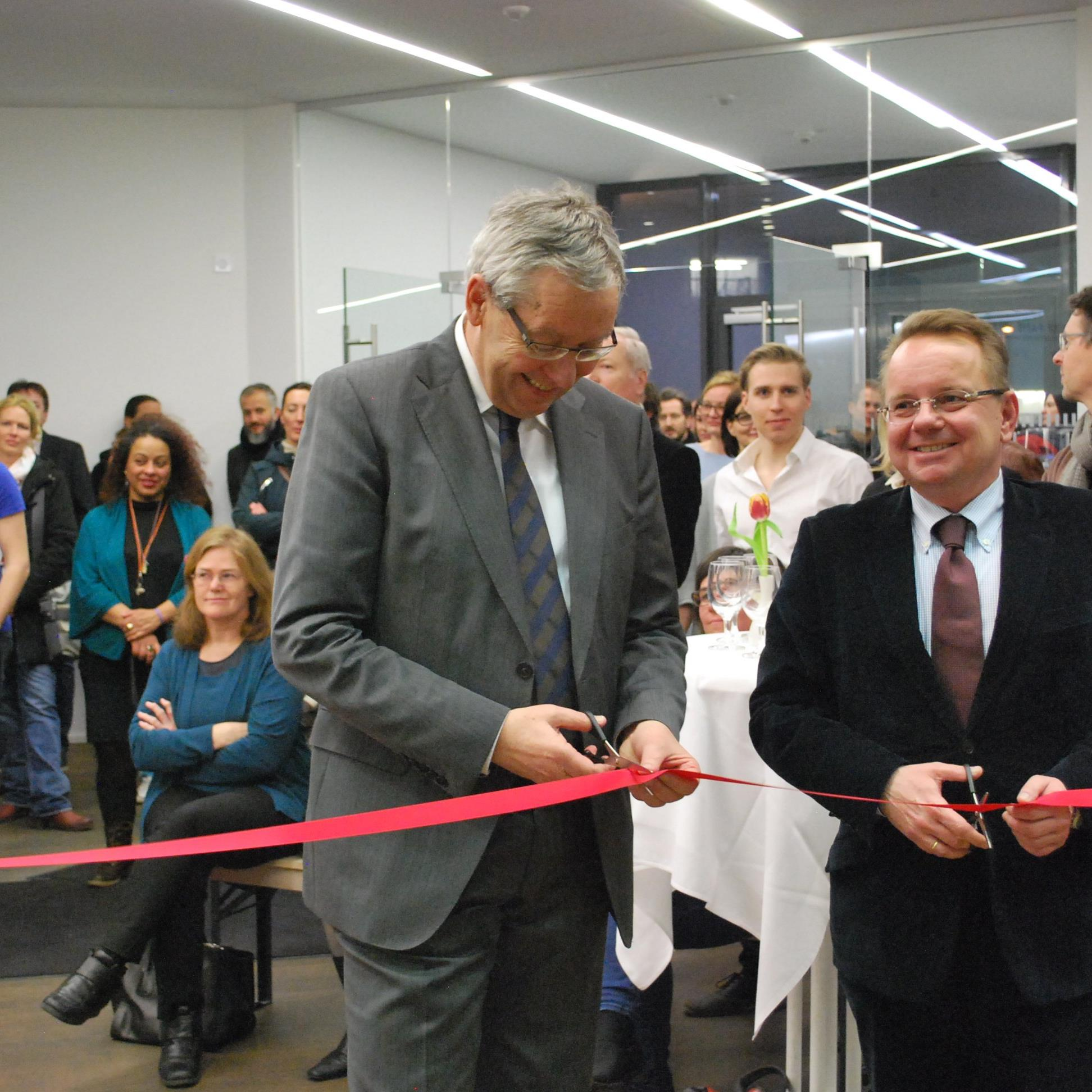 Die offizielle Eröffnung durch Karlheinz Rüdisser (l) und Thomas Kohlert