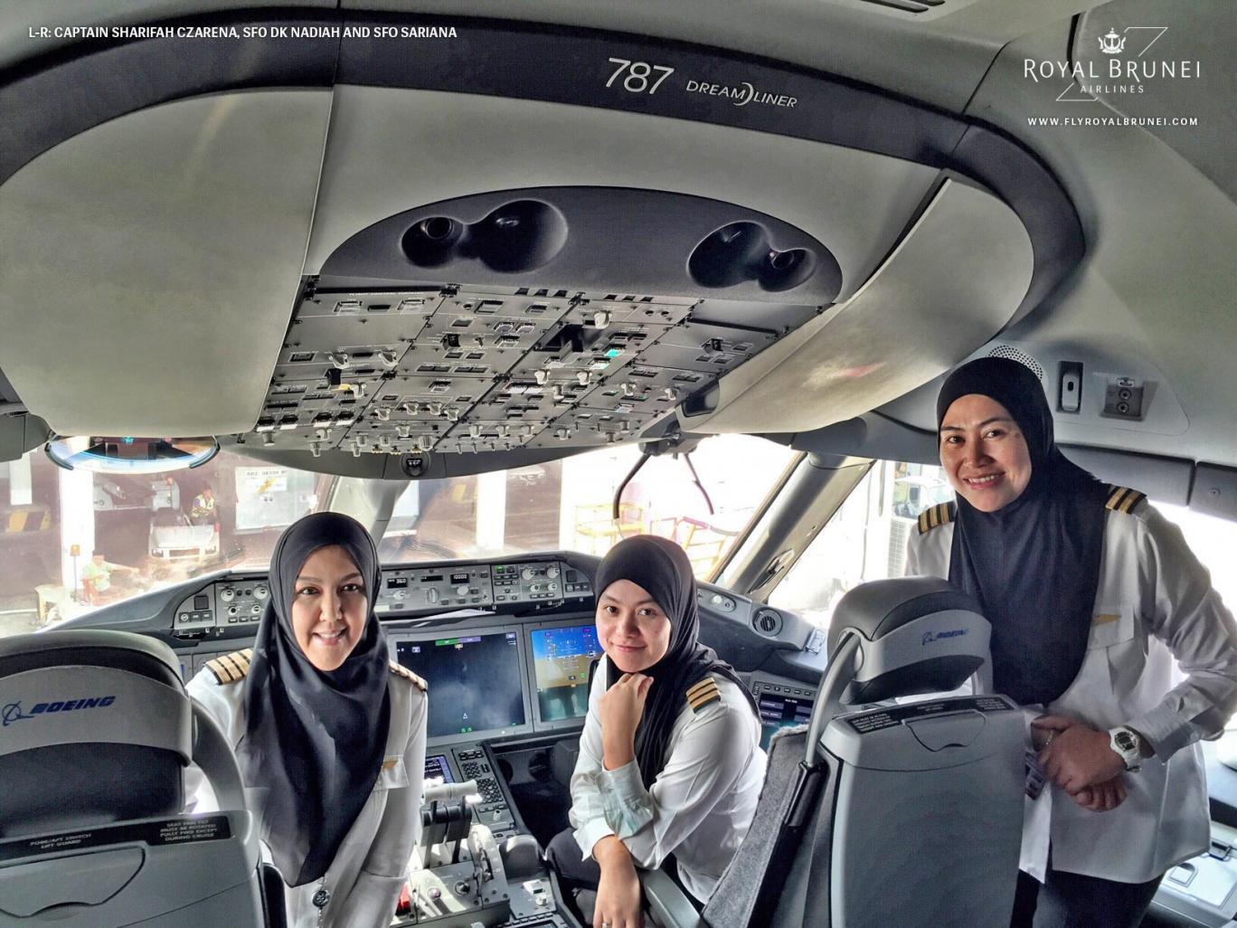 Historisches Ereignis für die Royal Brunei Airlines.