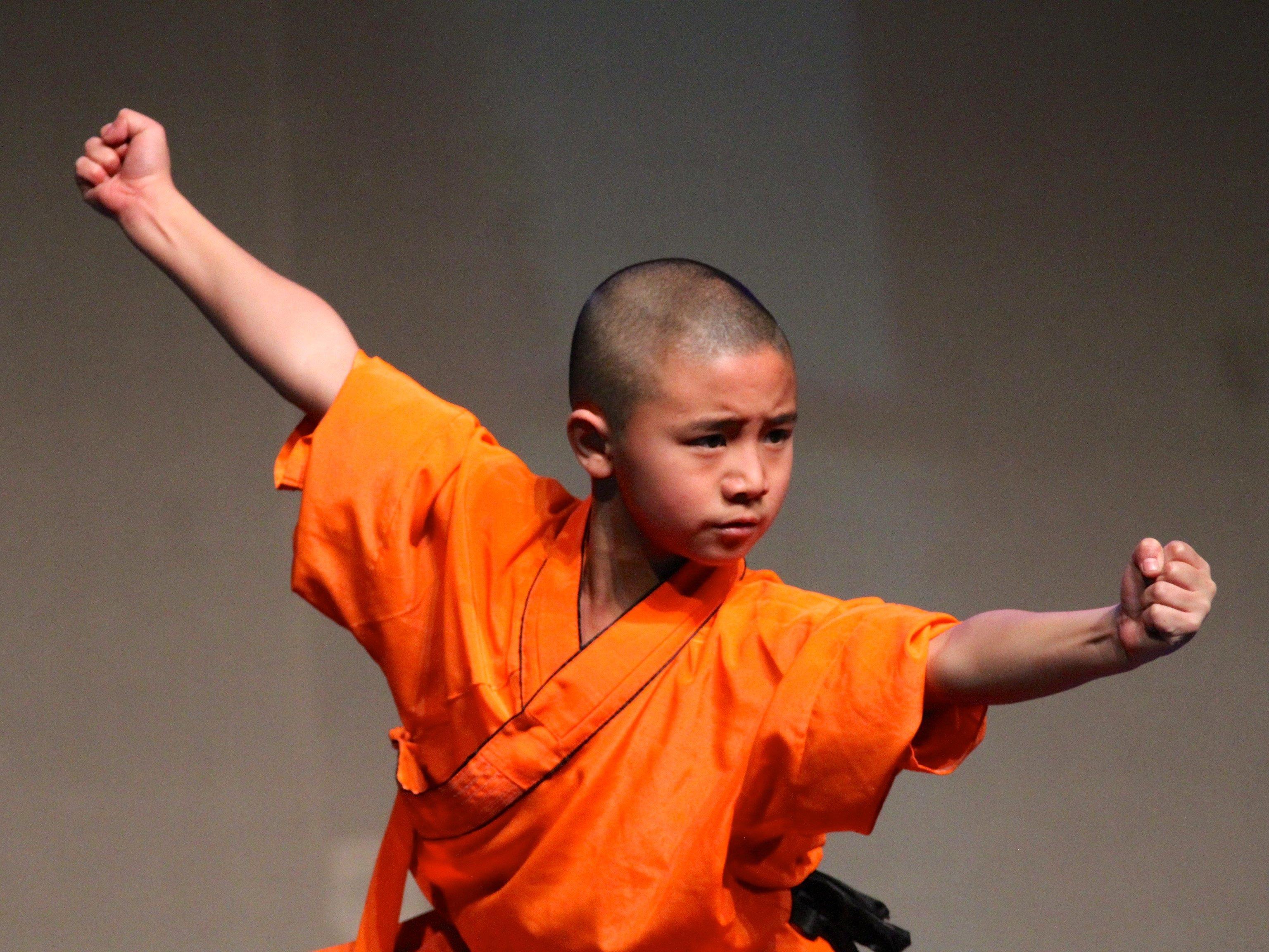 Besonders die jungen Kampfmönche stießen auf großen Beifall seitens des Publikums.