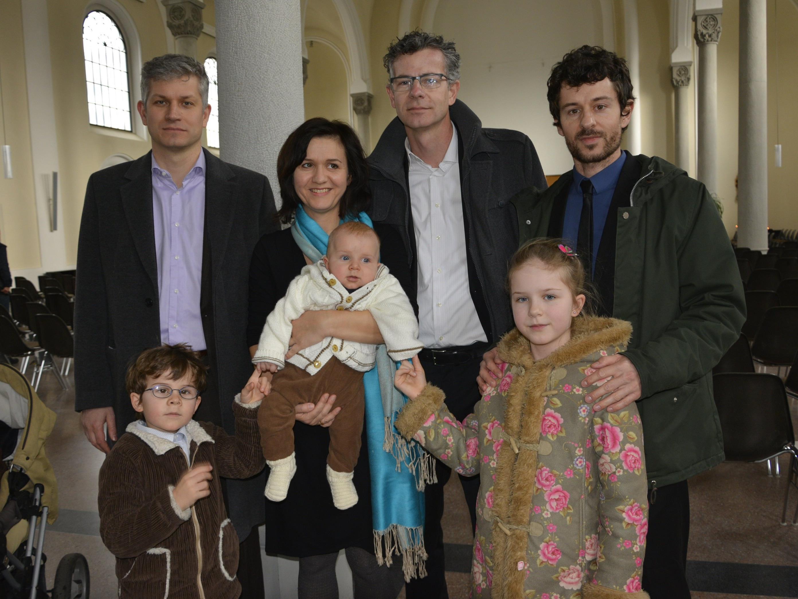 Die Familie Mündlein feierte die Taufe von Janes in Hard.