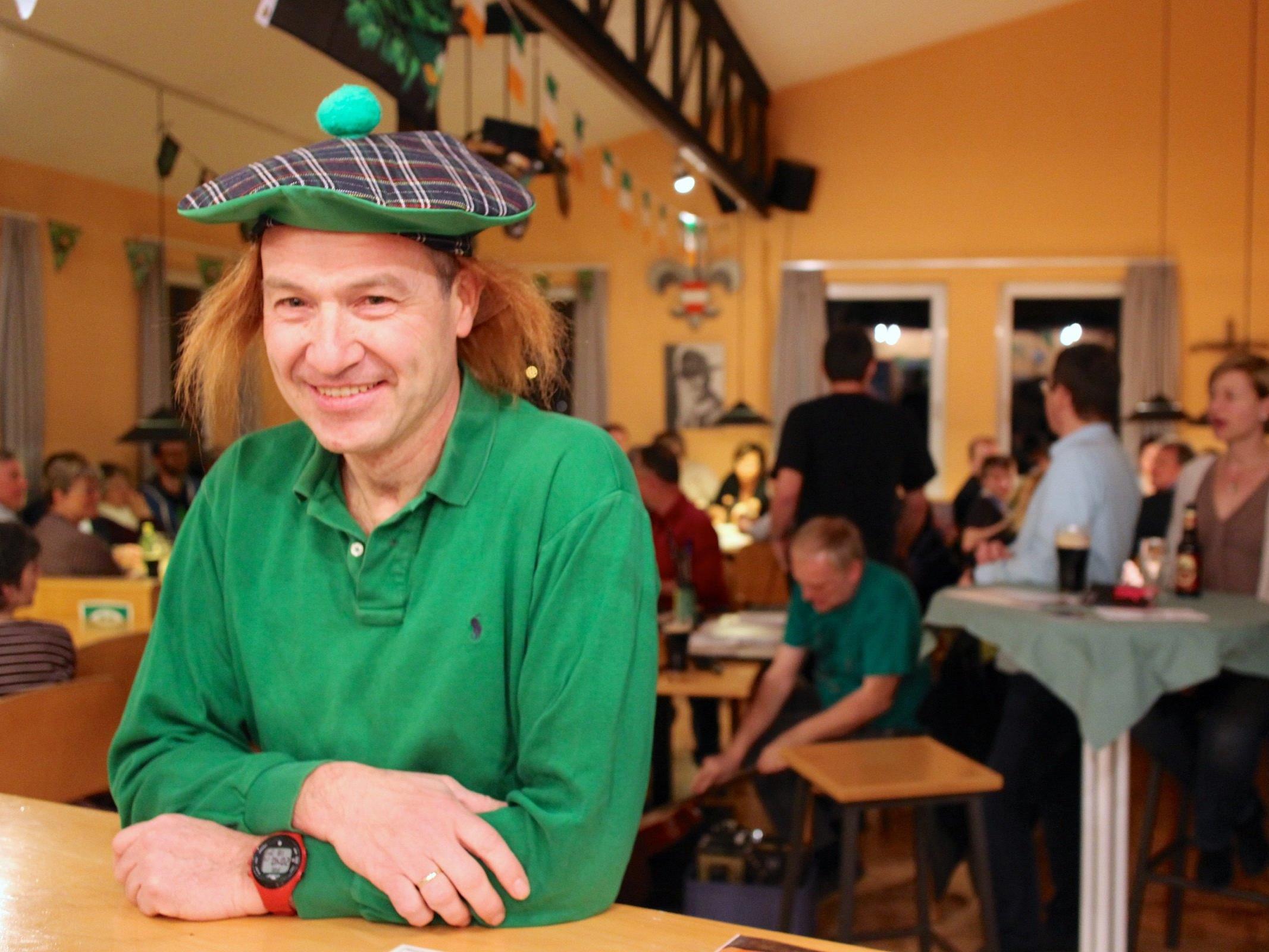 Hubert Bonner genoss den St. Patrick's Day im Pfadiclub.