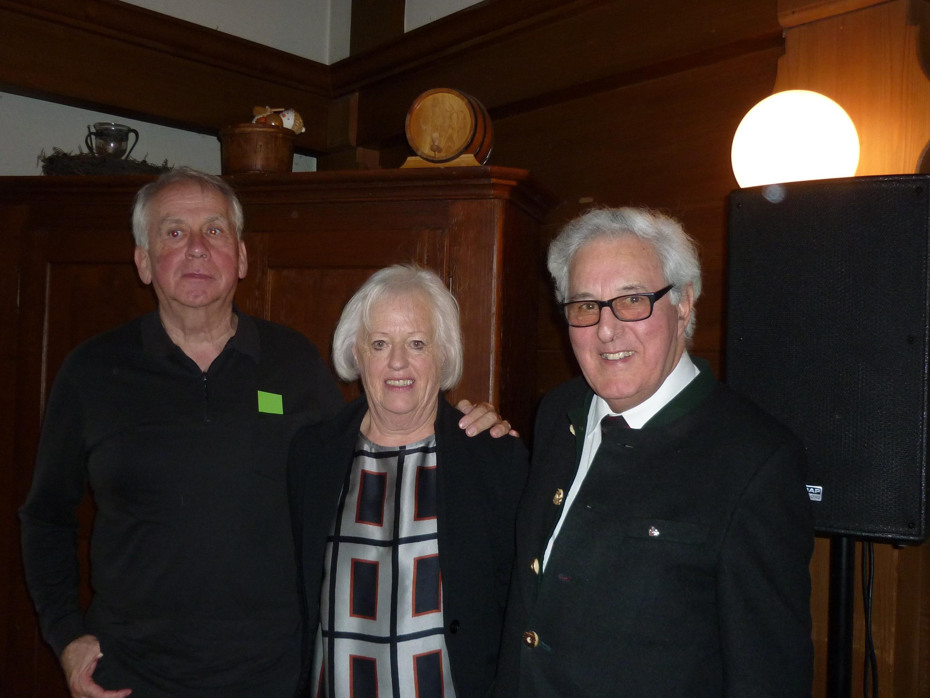 Obfrau Reinelde Gut mit Emil Längle und Dr. Gottfried Feurstein