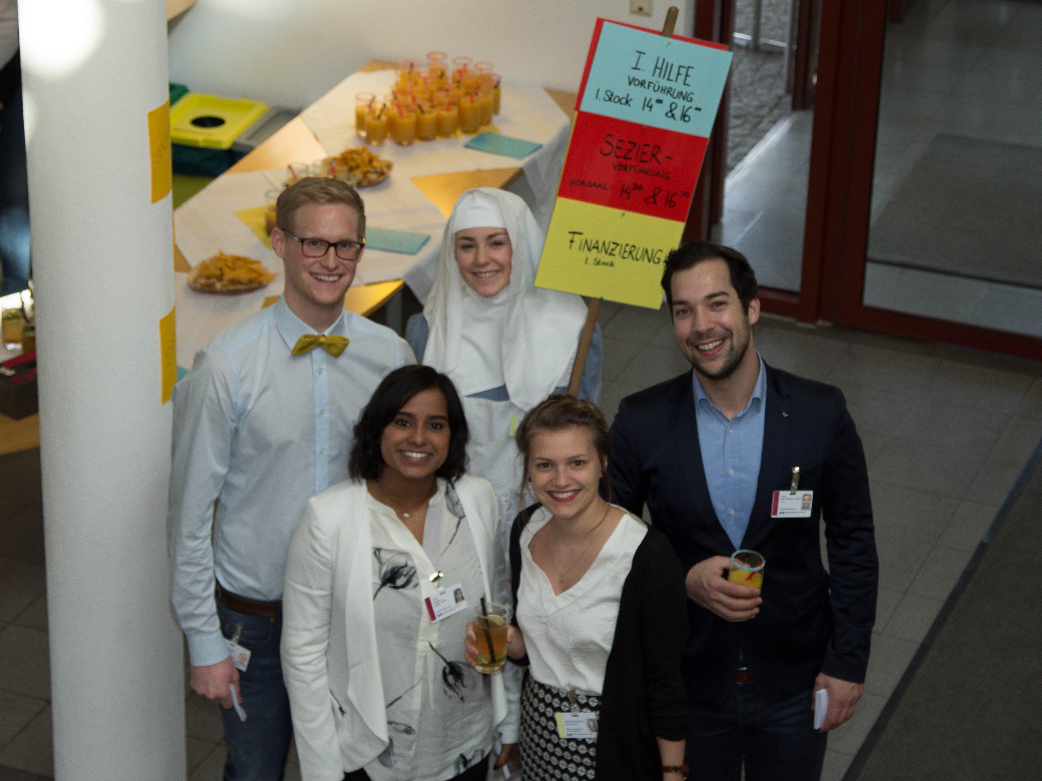 Das engagierte Team der Gesundheits- und Krankenpflegeschule Feldkirch organisierte einen bunten Info Lounge- Nachmittag.