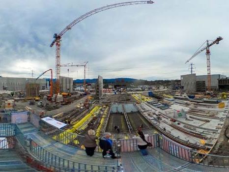 360 Grad Bild von Baustelle.