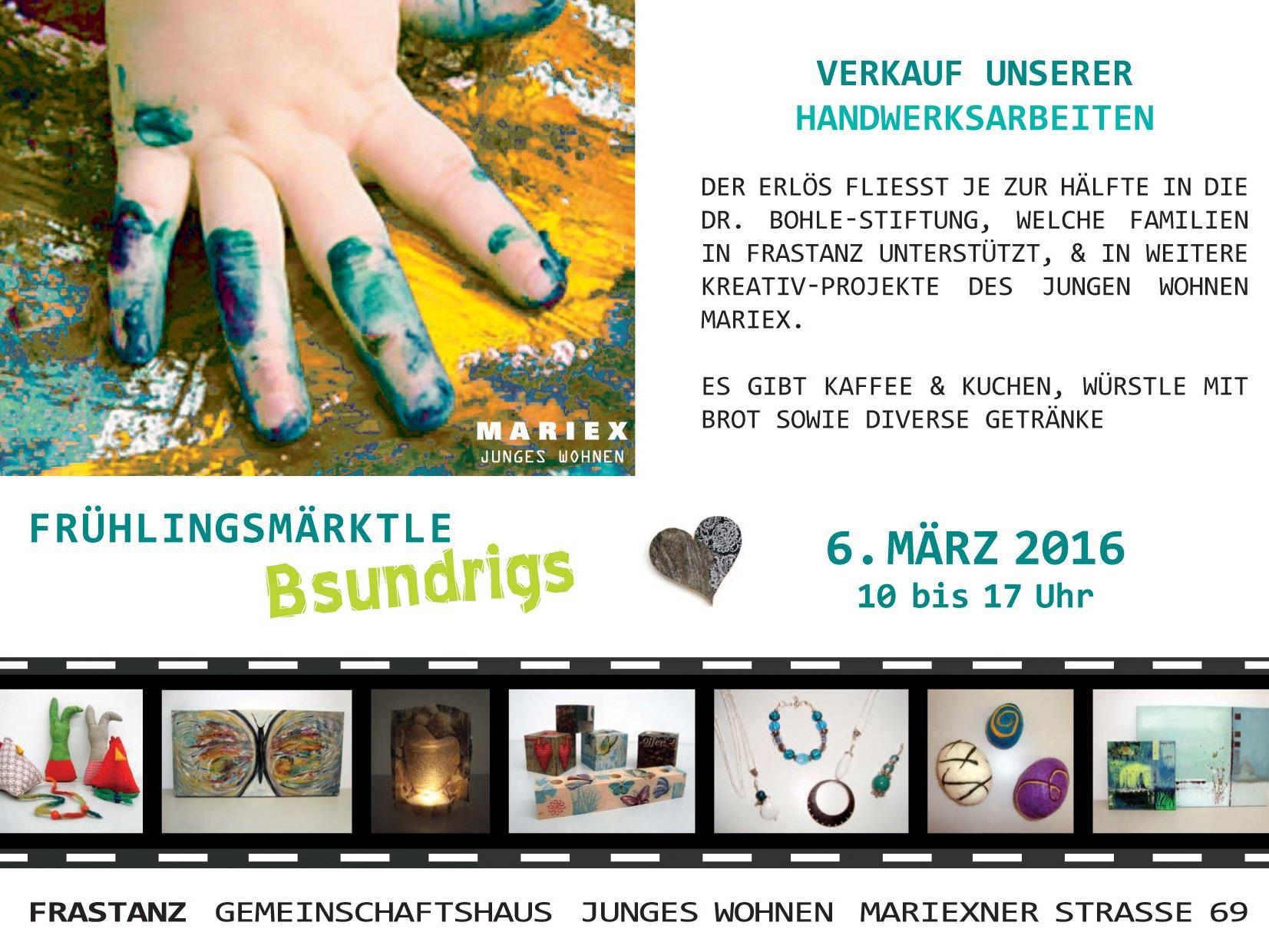 "Verkaufsmärktle ""Bsundrigs"" im Jungen Wohnen Mariex"