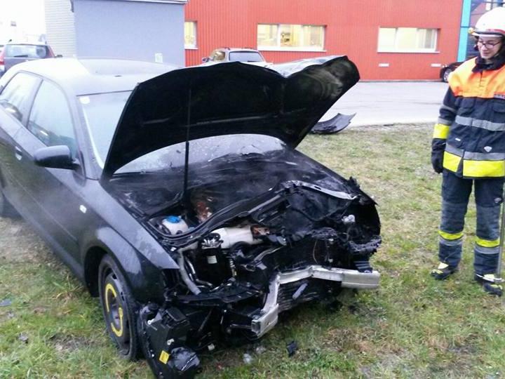 Das Ende der Unfallfahrt in Hohenems.