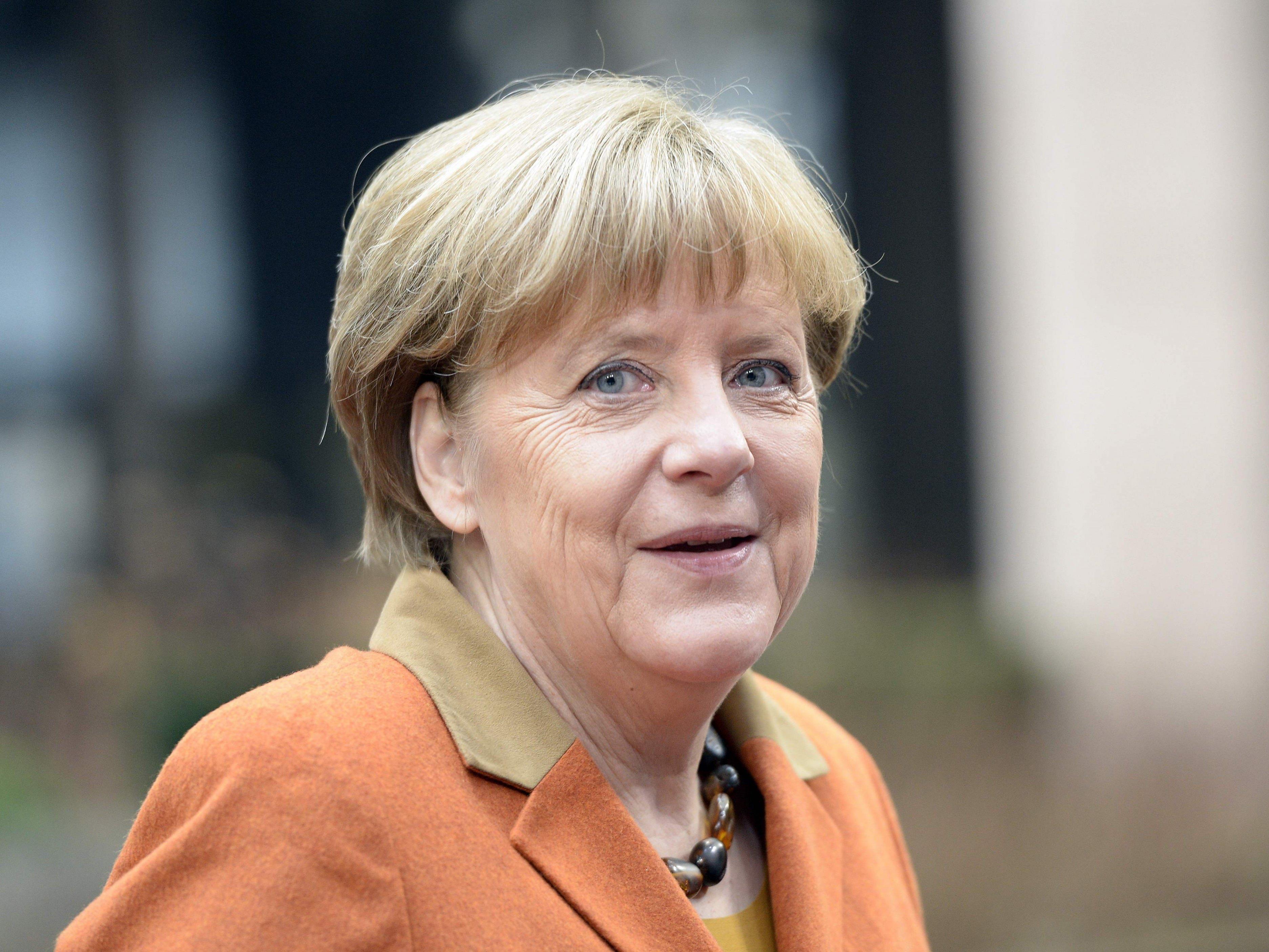 Angela Merkel vor dem EU-Gipfel.