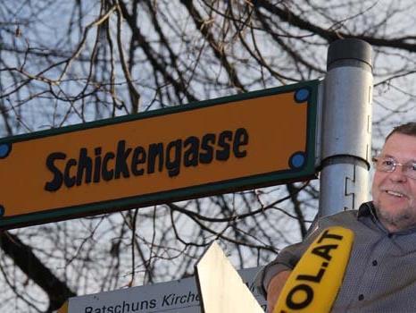 Werner Schnetzer erzählt, wieso es einen Rechtsstreit um den Namen der Schickengasse gab.