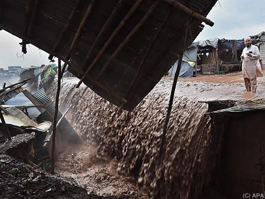Jährlich richten Unwetter in Pakistan schwere Zerstörungen an