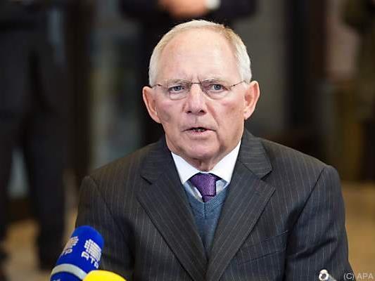 Deutschlands Finanzminister Wolfgang Schäuble