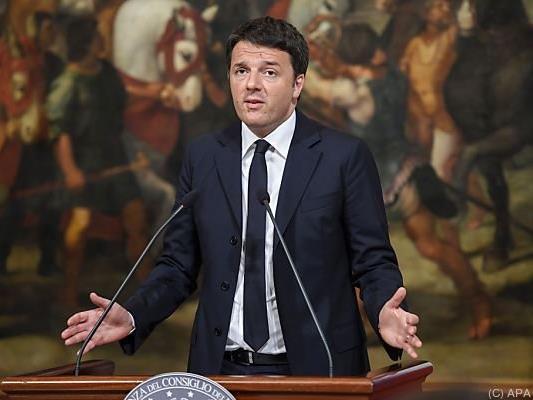 Renzis politisches Programm ist eng an die Verfassungsreform geknüpft