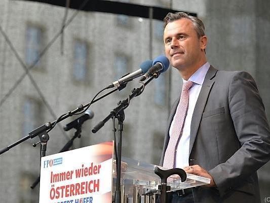 """Hofer propagierte """"Österreich zuerst"""""""