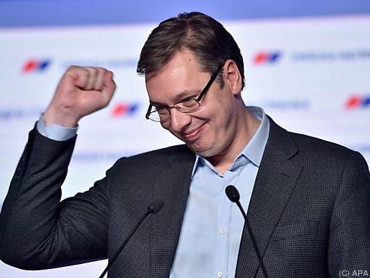 Wahlsieger Aleksandar Vucic