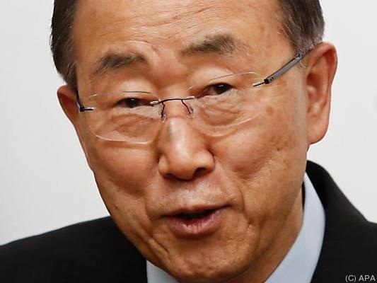 UNO-Generalsekretär Ban Ki-moon in Wien