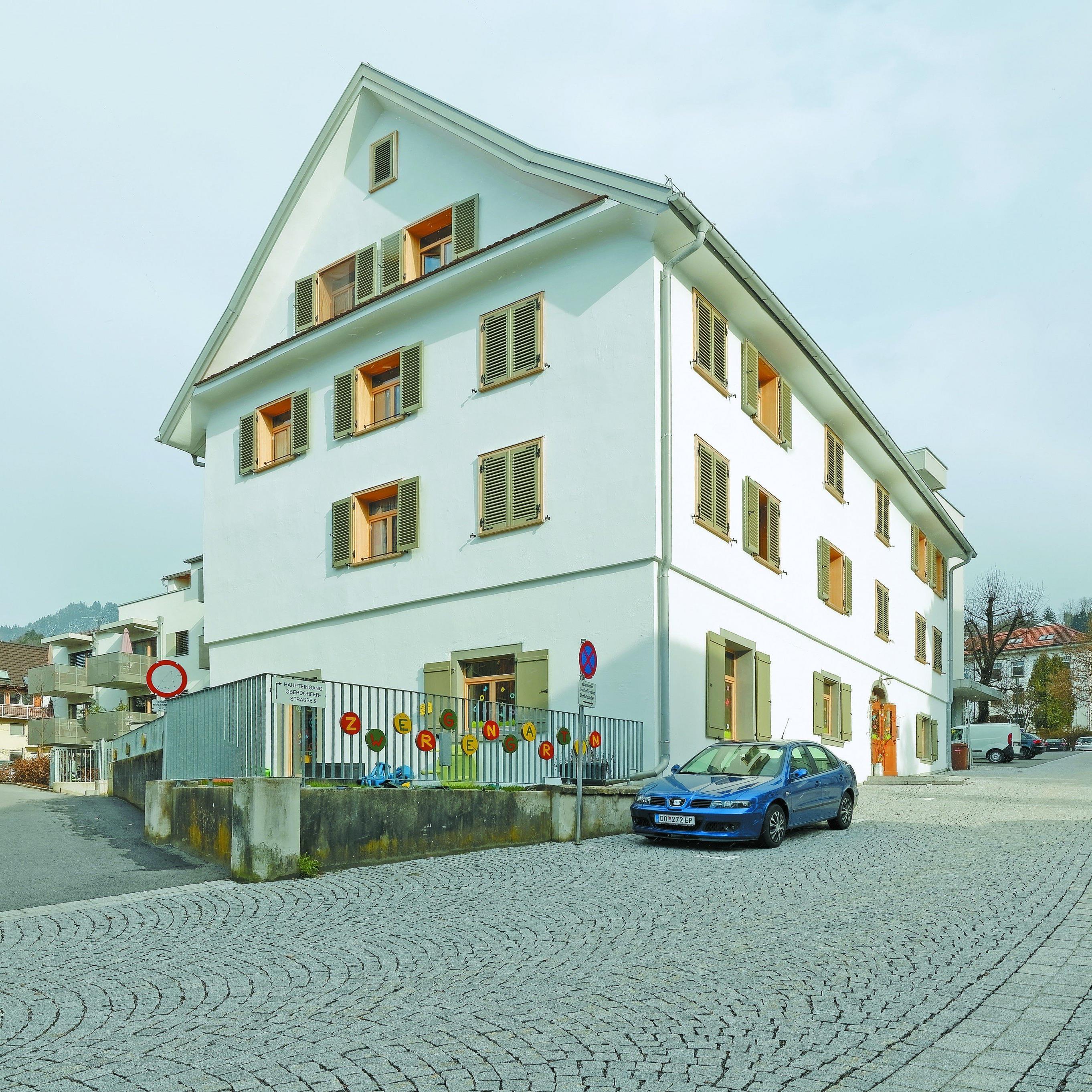 Alt und neu: Das Schlossbrau im Dornbirner Oberdorf wurde in ein Wohnhaus verwandelt.