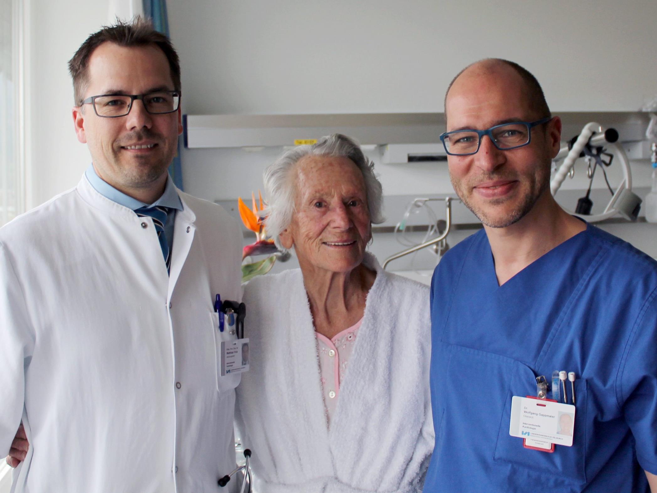 Der 86-jährigen Patientin geht es ausgezeichnet.