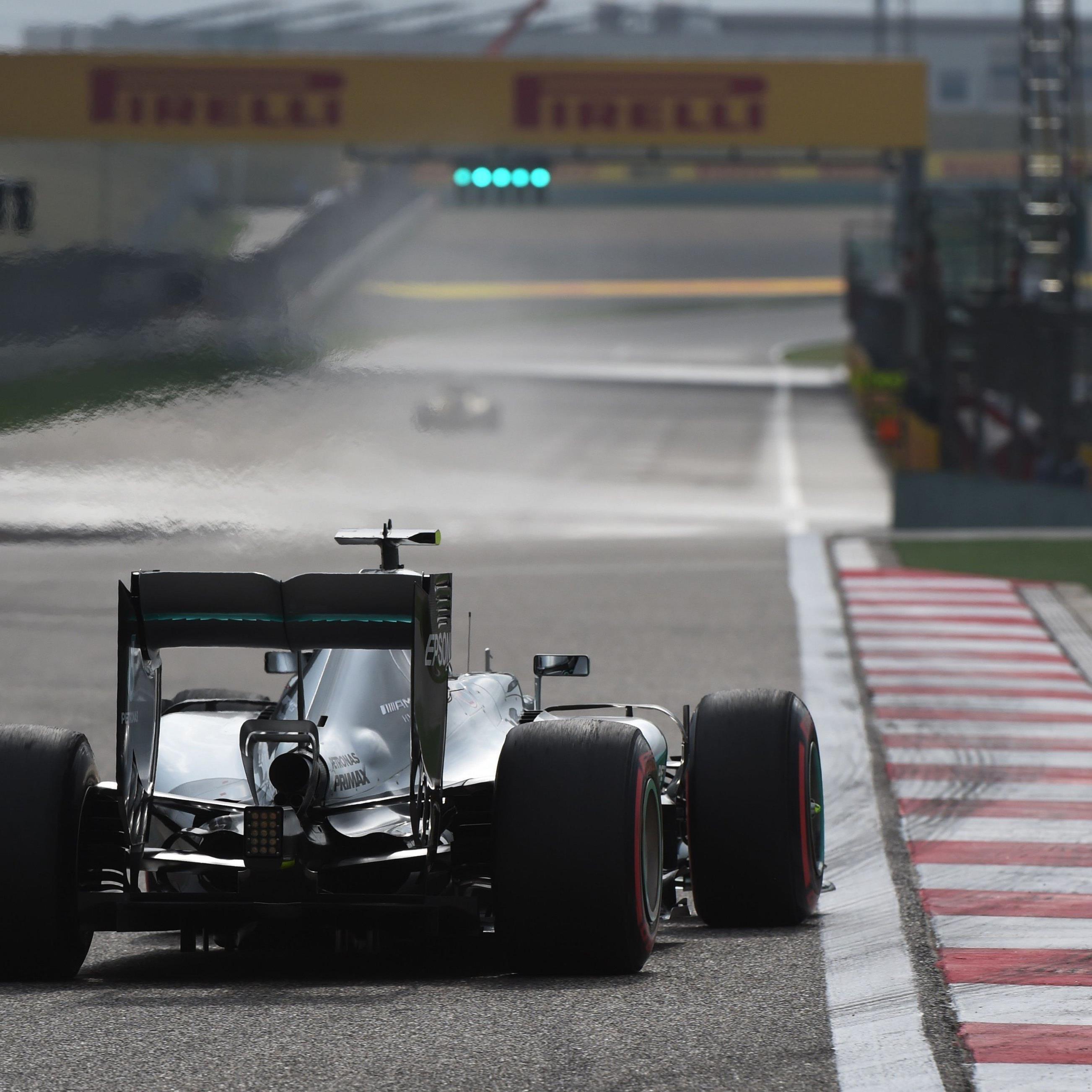 Die Konkurrenz wird von Nico Rosberg beim Start am Sonntag nur den Auspuff sehen.